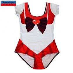 Nzswimwear®Women's Swimwear Nz Fashion Red School Uniform StylePrint Sexy Bodycon One-piece Swimsuit Nz Casual Siamesed Underwear
