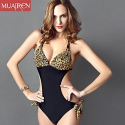 Nzswimwear® Women'S The New Piece SwimSuit Sexy Leopard ConServative SwimSuit