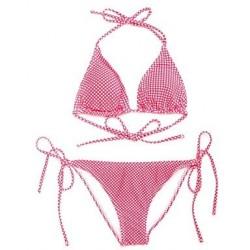 I-Glam Women's Polka Dot Triangle Top with Classic Cut Bottom Bikini Swimwear Nz