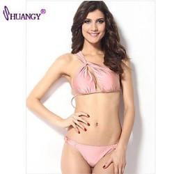 syu®Women's Wireless Cross/Solid Halter Bikinis (Polyester/Spandex)
