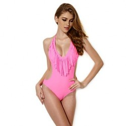 The new pink fringed wetsuit Europe and the United States foreign trade bikini manufacturers selling