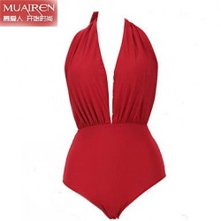 Nzswimwear® Women'S The New Sexy Red Halter WaiSt Piece SwimSuit Bikini Swimwear Nz