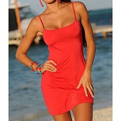 Women's Sexy Strap Beach Mini Dress
