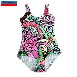 Nzswimwear®Women's Swimwear Nz Fashion Mini Flower Print Sexy Bodycon One-piece Swimsuit Nz Casual Siamesed Underwear
