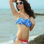 syu®Women's Wireless Tassels Halter Bikinis (Polyester/Spandex)