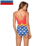 Nzswimwear®Women's Sexy Elasticated Swimming Suit Sexy Wonder Woman Suit Print Bodycon Jumpsuit One Piece