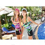 Lovely woman fashion leisure swimming suit