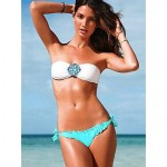2015 Fashion Rhinestone Embellished With Chest Pad And Shoulder Strap Swimsuit Nz Two-Piece Bikini Swimwear Nz For Women