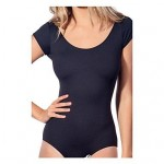 SMK Women's Black Without Steel Bracket Without Padding One-piece Swimming Suit