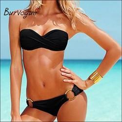Burvogue Women's Sext 2PCS Strapless Swimsuit Nz Swimwear Nz Bathing Suit Bikini Set