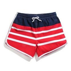Women's Striped Surf Board Shorts Quick Dry Beach Swimwear Nz Pants(Polyester)