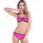 2017 Lady Summer Style Fashion 2pcs Sexy Bikini Triangl Biquini Swimsuit Nz Beachwear Bikini Triangl Neoprene Bikini