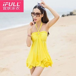 Woman fashion sexy swimsuit color skirt