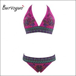 Burvogue Women's Vintage Tropez Bikini Top Padded Bra Top+Bottom Set Swimwear Nz