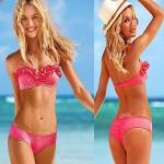 Nzswimwear® Women'S Three-DimenSional Lace Sexy Pink Bikini SwimSuit