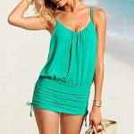 Nzswimwear Women's Wireless Solid Halter One-pieces (Cotton Blends)