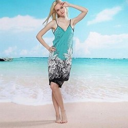 Women Polyester Halter One Pieces Swimming Accessories Cover Ups MSSY1