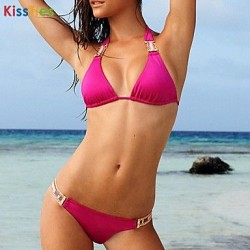 Nzswimwear® Women's Fashion New Sexy Solid Color Bikini