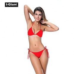 I Glam Womens Bikini Lingerie Thong String Brazilian Swimwear Nz Tiny Micro Bottom Sheer Top Beach Wear Red