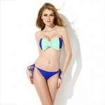 New arrive summer Sexy Royal Blue Bandeau Top low waist Bikini Swimwear Nz