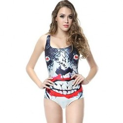 Women's High Elastic Print Swimsuit Nz One Size