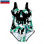 Nzswimwear®Women's Swimwear Nz Fashion Camouflage Print Sexy Bodycon One-piece Swimsuit Nz Casual Siamesed Underwear