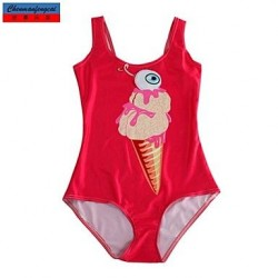 Nzswimwear®Women's Swimwear Nz Fashion Red Ice Cream Print Sexy Bodycon One-piece Swimsuit Nz Casual Siamesed Underwear