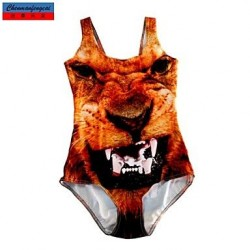 Nzswimwear®Women's Swimwear Nz Fashion 3D Monster Print Sexy Bodycon One-piece Swimsuit Nz Casual Siamesed Underwear