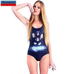 Nzswimwear®Women's Swimwear Nz Fashion Queen Print Sexy Bodycon One-piece Swimsuit Nz Casual Siamesed Underwear