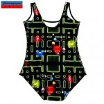 Nzswimwear®Women's Swimwear Nz Fashion Mini Game Print Sexy Bodycon One-piece Swimsuit Nz Casual Siamesed Underwear
