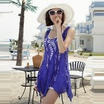 2017 fashion swimwears bathing suit cover ups sexy crochet blue lace pareo beach dress summer bikini swimsuit cover up