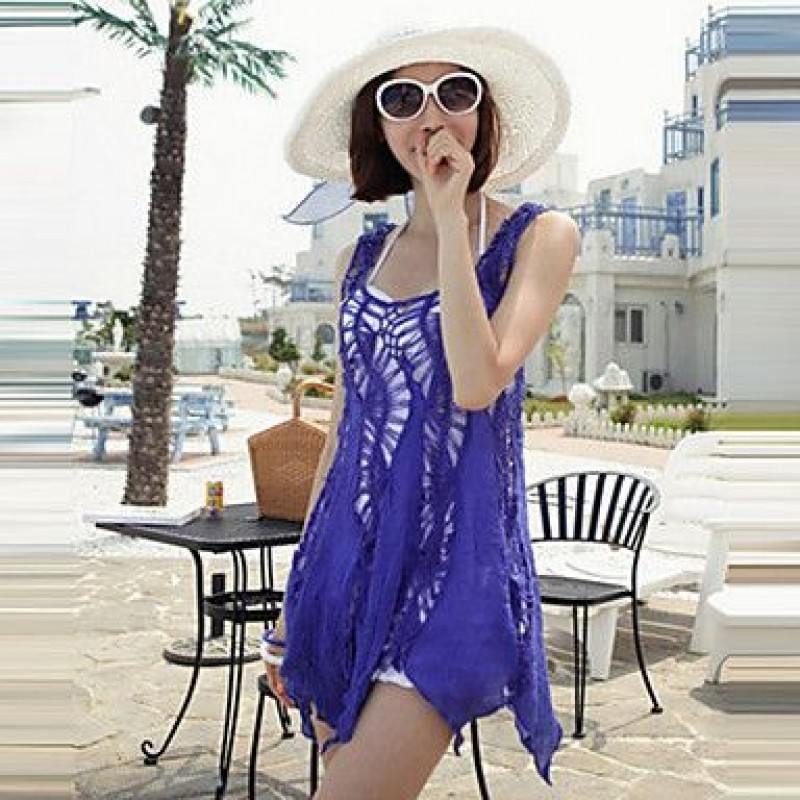 6c0093fe99 2019 fashion swimwears bathing suit cover ups sexy crochet blue lace pareo beach  dress summer bikini