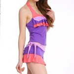Women's Wireless/Padded Bras Dot/Ruffle/Solid/Bandage Bandeau One-pieces (Nylon/Polyester)