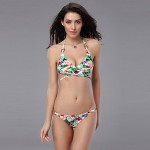 New arrival women's fashion sexy swimsuit high quality flower print bikini plus size on sale beautiful bikini 2019