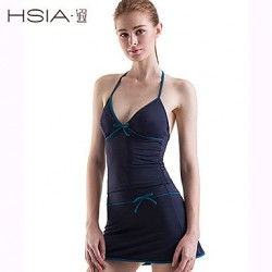 HSIA Womens Wireless Solid Bandage Halter Multi Pieces Polyester