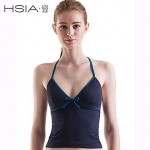 HSIA Women's Wireless Solid/Bandage Halter Multi-pieces (Polyester)