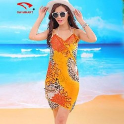 Women's Animal/Mesh Halter Cover-Ups (Polyester)SM7A10