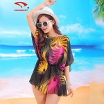 Women's Floral/Mesh Halter Cover-Ups (Polyester)SM7A09