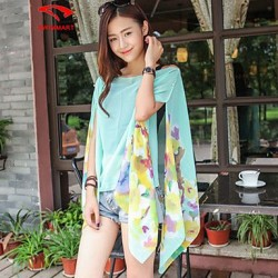 Womens Floral Halter Cover Ups Polyester SM7A06