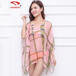 Womens Geometric Halter Cover Ups Polyester SM7A05