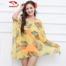 Womens Floral Halter Cover Ups Polyester SM7A03