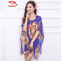 Women's Floral Halter Cover-Ups (Polyester)SM7A02