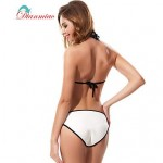 Sexy Triangl Bikini Neoprene Halter Straps Swimwear Nz Women's Swimsuit Nz Splice BK-18