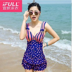 Woman fashion sexy cute polka dot skirt swimsuit cake