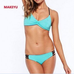 MAKEYU Women's Bind Type Sexy Hollow Out Bikini Swimwear Nz