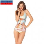 Nzswimwear®Women's Elasticated Sexy Bathing Suit Printed Bodycon One Piece HotBikini