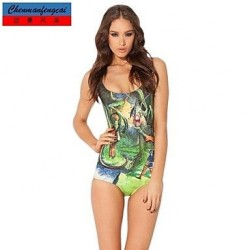 Nzswimwear®Women's Sexy Swimwear Nz Printed Stretcy Bodycon Jumpsuit One Piece Top