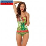Nzswimwear®Women's Sexy Posion Ivy Swimwear Nz Printed Bodycon Jumpsuit HotBikini Top
