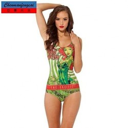 Nzswimwear®Women's Sexy Posion Ivy Swimwear Nz Printed Bodycon Jumpsuit HotBikini Top