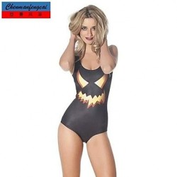 Nzswimwear®Women's Sexy Halloween Elasticated Swimwear Nz Sexy Print Bodycon Jumpsuit